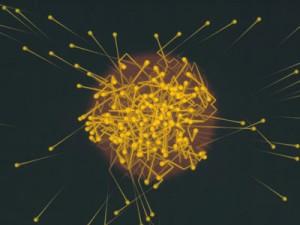 Trajectoire des photons s'échappant du soleil.© CNRS Photothèque