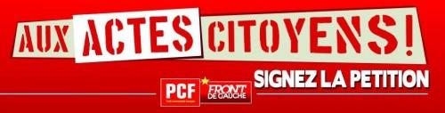 Affiche de campagne PCF-Front de Gauche