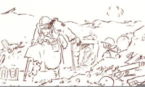 La « fine blessure », dessin de Pierre Dantoine