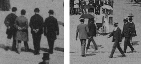 Fig. 2. Jeux de mains. © Conseil général de la Haute-Garonne, Archives départementales, Fonds Labouche. Gauche: 26 FI 31555 71; droite: 26 FI 31555 185.