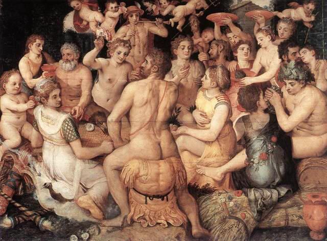 Frans Floris, Le Banquet des dieux, 1550, musée royal des beaux-arts d'Anvers