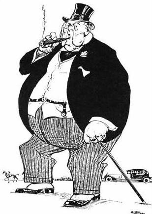 The Subsidised Mineowner, caricature britannique de 1925.