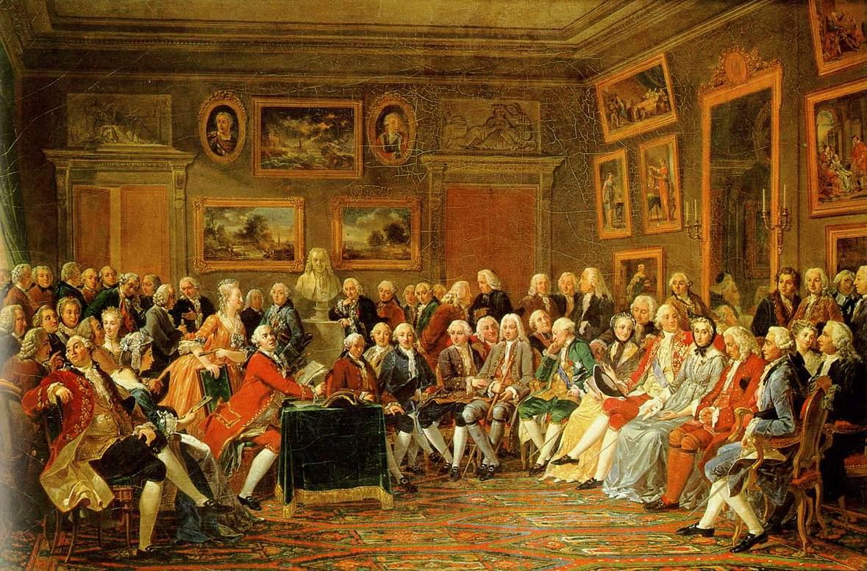 Une soirée chez Madame Geoffrin de Lemonnier, 1812, CC