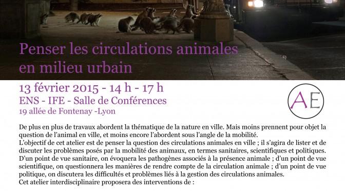 Compte-rendu – Penser les circulations animales en milieu urbain
