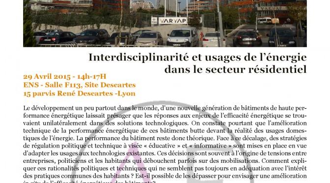 Compte Rendu Atelier Expérimental – Interdisciplinarité et Usages de l'Energie