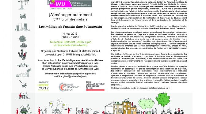 Forum des métiers – 04/05/2015