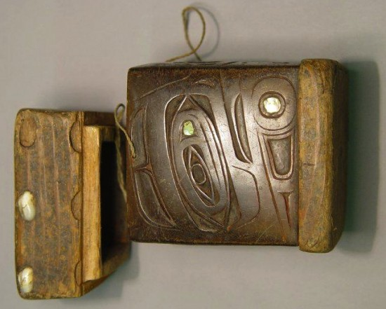 © Trustees of the British Museum. Wood and baleen box (BL Am.6819.a-b) acquired 1870 from the Pacific north-west coast. Use allowed for approved purposes.
