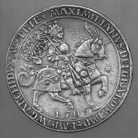 Fig 6: Doppelguldiner (presentation coin) of Emperor Maximilian I, 1509, New York, Metropolitan Museum of Art, inv. 26261.14. © The Metropolitan Museum of Art.