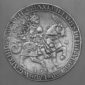 Fig 6: Doppelguldiner (presentation coin) of Emperor Maximilian I, 1509, New York, Metropolitan Museum of Art, inv. 26261.14. © The Metropolitan Museum of Art.