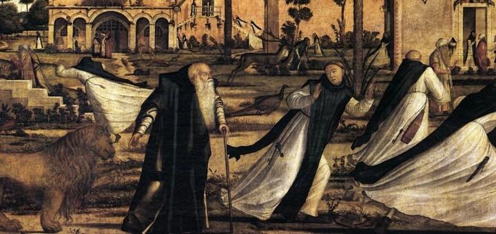 St Jerome and the Lion 1502 Tempera on canvas, 141 x 211 cm Scuola di San Giorgio degli Schiavoni, Venice