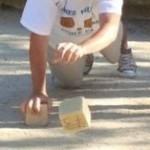 Lancer de boule carré à la façon veynoise, photographie fournie par Mickaël Boyer