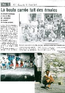 Article paru dans le Dauphiné libéré en 1988
