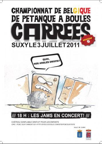 Affiche du Championat de Belgique, 2011