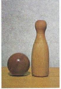 Quille du jeu de quilles bressanes, photographie de Joseph Caland