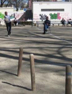 Lancé de boule sur le quillou, photographie du site ot-montpellier