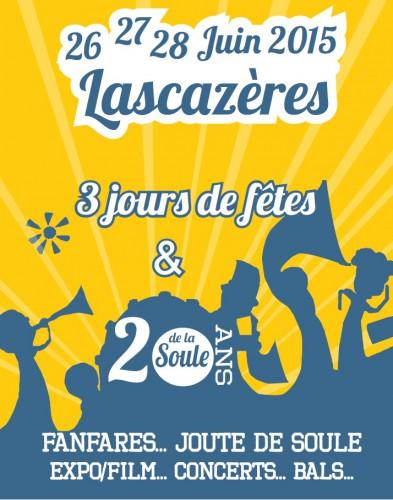Affiche de la fête de la soule de Lascazères (2015)