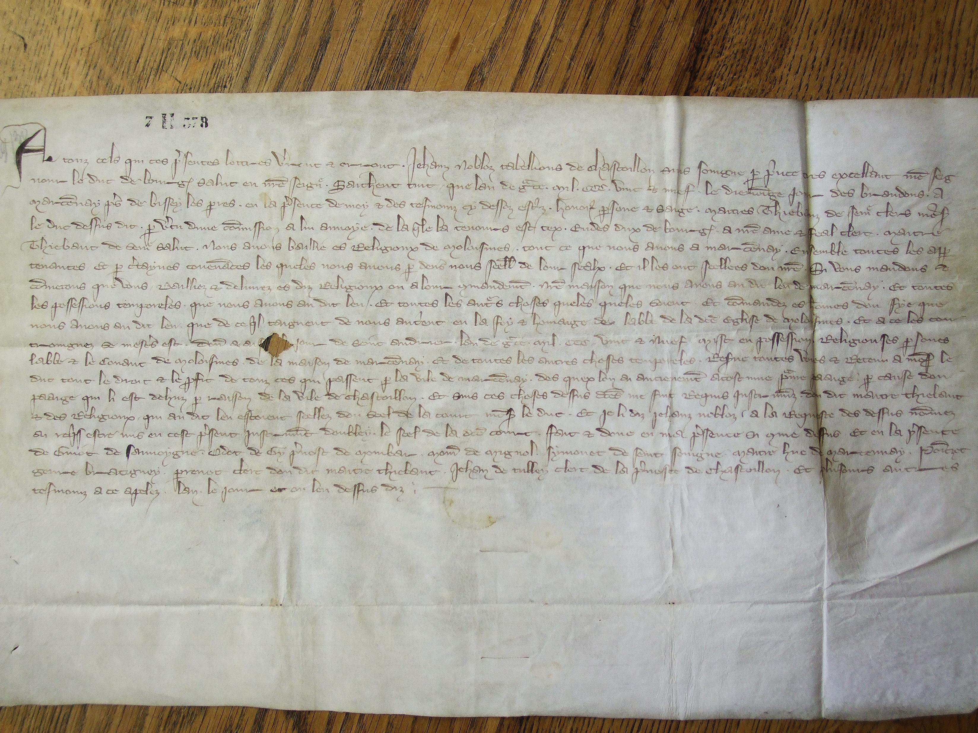 Dijon, Archives départementales de Côte d'Or, 7 H 578