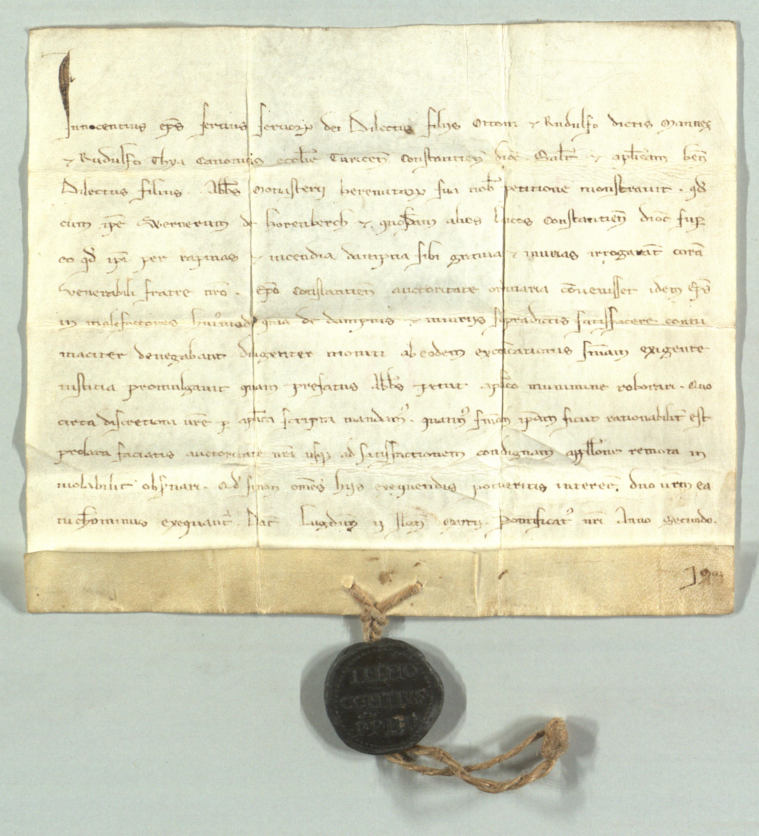 Einsiedeln, Klosterarchiv Einsiedeln,  Urkunde Nr. 103 (KAE A.LA.1)