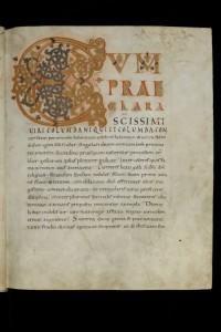 St. Gallen, Stiftsbibliothek / Cod. Sang. 562 – Vitae sancti Galli et Otmari / p. 3