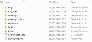 Arborescence des dossiers pour le logiciel Oriflamms.exe
