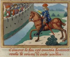 héraut de Charles VII devant Rouen