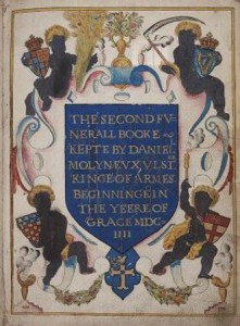 Frontispiece of the Funeral Entries, vol. 3 (1604-1622), by Ulster, king of arms (National Library of Ireland)