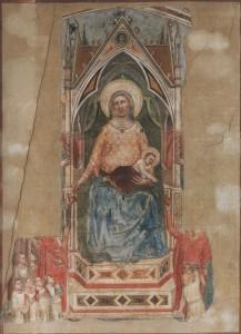 Attribuée à Giotto, Vierge à l'Enfant, vers 1334-1336. Florence, Museo Nazionale del Bargello