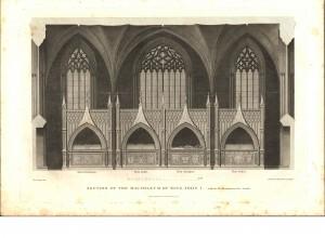 Plan de la chapelle par James Murphy (1794)