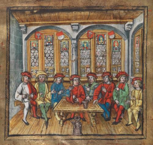 Salle de conseil de la ville de Stans,  Chronique de Diebold Schilling, 1511-1513 via e-codices)