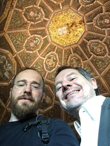 Gemeinsam mit Miguel Metelo de Seixas in der Sala dos brasões (Foto:  TH)