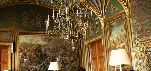 Gothic Drawing Room of Eastnor Castle, Herefordshire