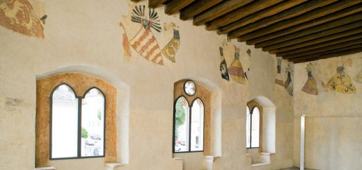 Great Hall with armorial frieze in the so-called Gozzoburg in Krems (View to the Hoher Markt)