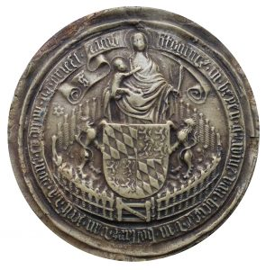 Empreinte du grand sceau de Jacqueline de Hainaut-Bavière utilisé en 1417- 1418 (G. Demay, F 317)