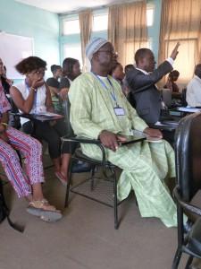 Professor Verkijika Fanso. To his left Professor Julius Victor Ngo.