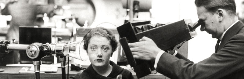 Woman having her head x-rayed, 15 October 1934.