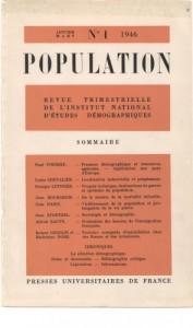 """Dès le premier numéro de la revue """"Population"""", le vieillissement est un sujet central pour l'INED avec e.a. un important article de Jean Daric"""