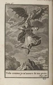Gravure pour la première édition de Le Moine, traduit de l'anglais, de Lewis, An V (1797)
