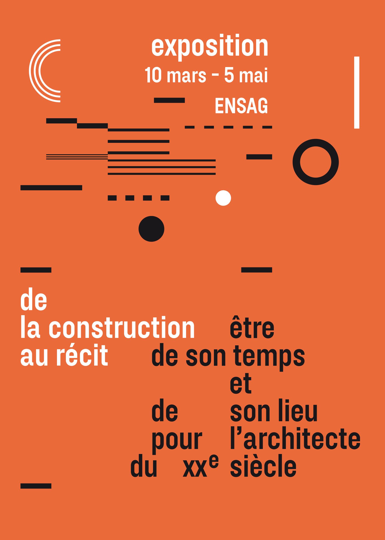 Affiche invitation à l'exposition de Claire Rosset