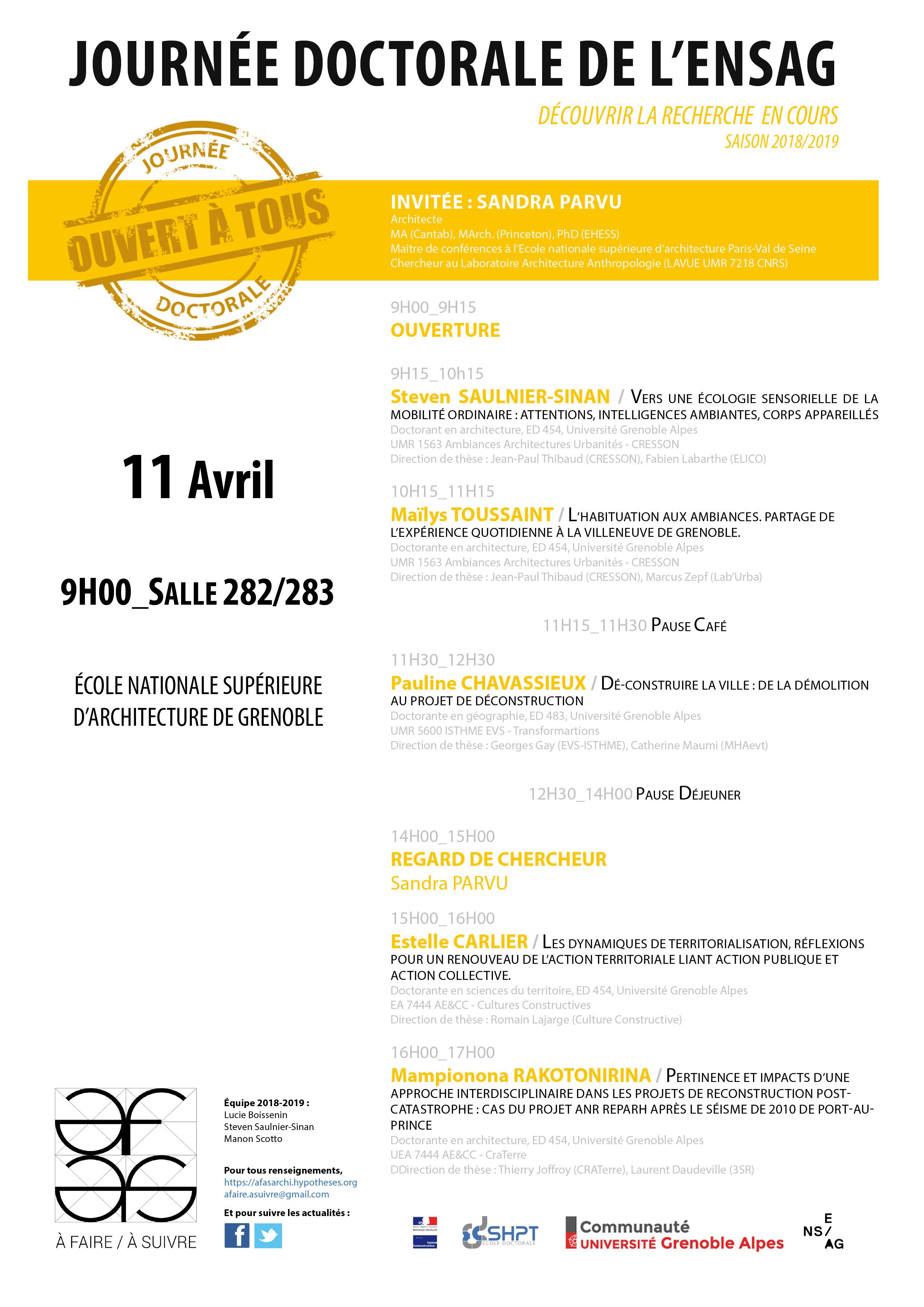programme de la journée doctorale