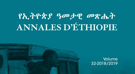 Publication: Annales d'Éthiopie n°32 (2018-2019)
