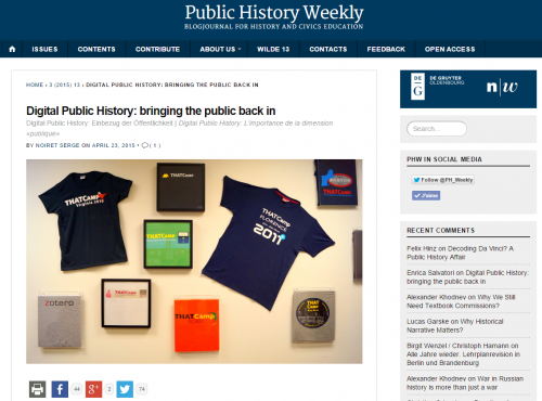Public History Weekly   - 2015 - 1 -sn