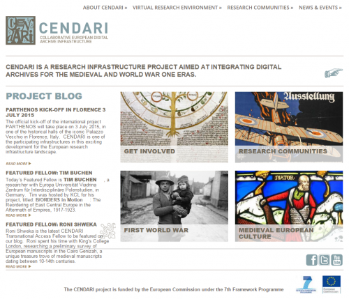 Cendari Collaborative European Digital Archive Infrastructure