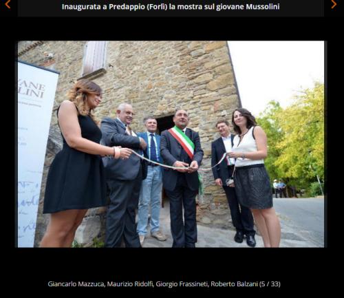 Inaugurata a Predappio la mostra sul giovane Mussolini, il Resto del Carlino 2013 Forlì