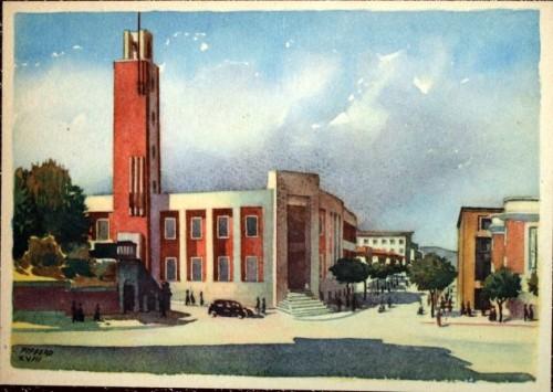 Casa del fascio di Forli, Cartolina pubblicata da Storia in Rete
