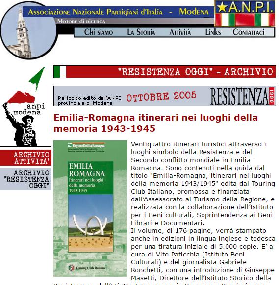 Touring Club - Emilia-Romagna- 1943-1945