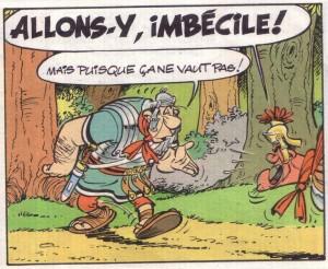 Le légionnaire qui suit le jeu imposé par le petit ibère