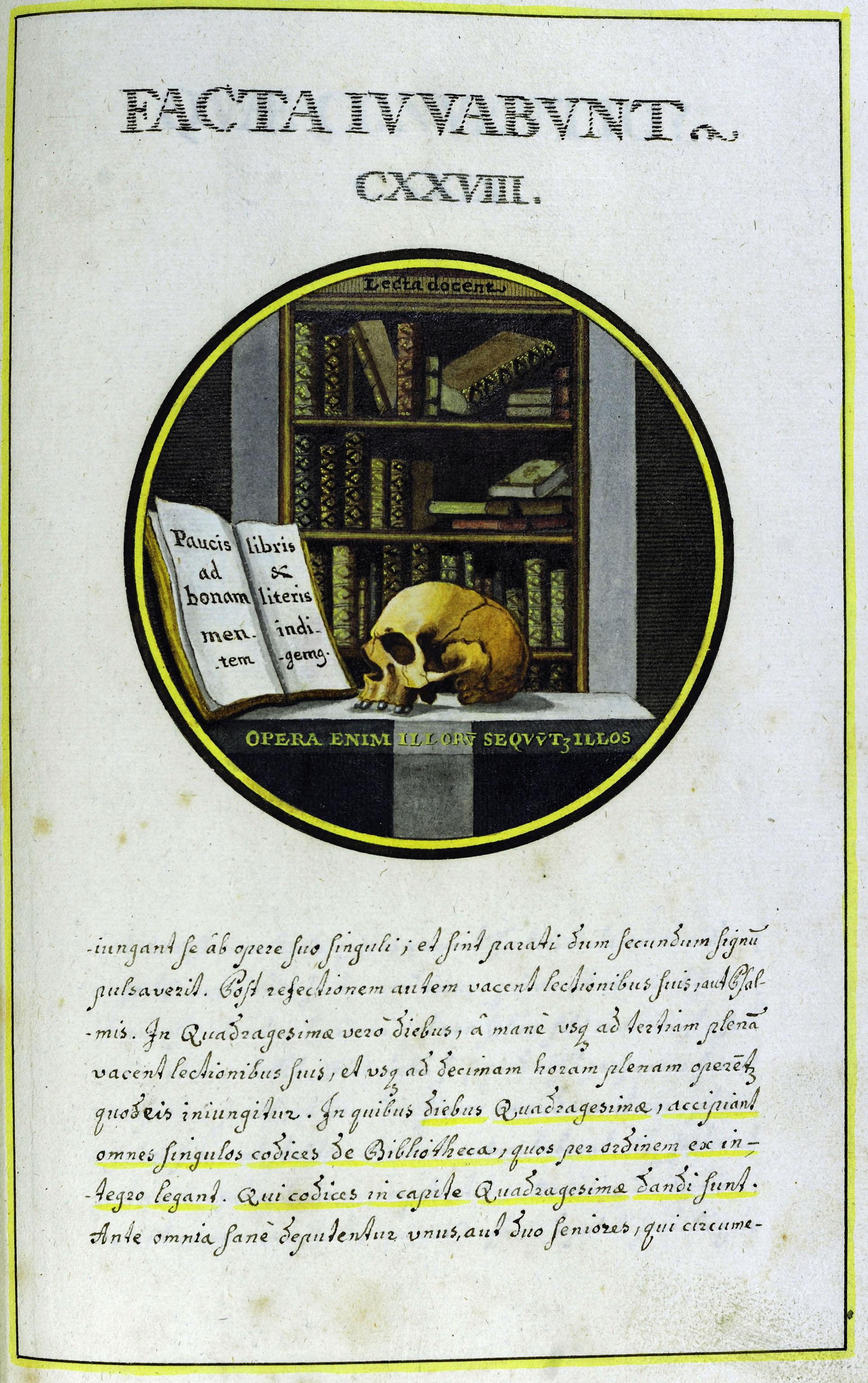 Facta iuvabunt. Emblem von Bonifaz Gallner