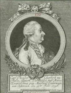 Kurfürst Karl Theodor (1724 - 1799), Pfalzgraf seit 1733, Kurfürst ab 1777 HV-BS-A-14-18