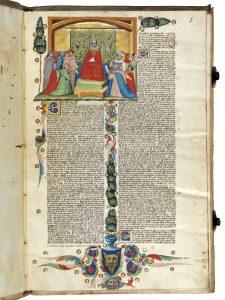 Prächtige Miniaturen aus einer Bologneser Rechtshandschrift, um 1340