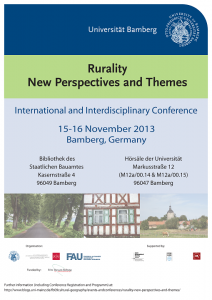 Tagungsposter; http://www.blogs.uni-mainz.de/fb09cultural-geography/events-and-conferences/rurality-new-perspectives-and-themes/; alle Rechte dort.